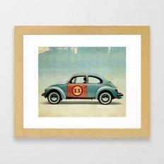 number 11 - VW beetle Framed Art Print