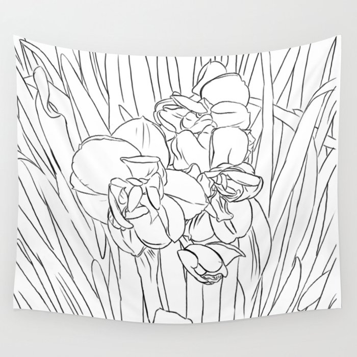 daffodil lines Wall Tapestry