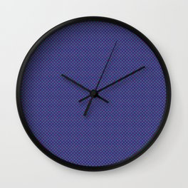 Purple and sea green squares Wall Clock