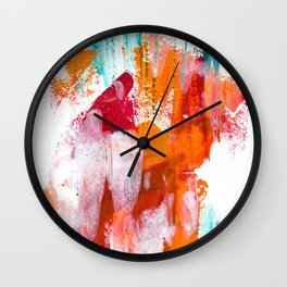 """""""In the Morning"""". Phthalo Green Series, No. 10 Wall Clock"""