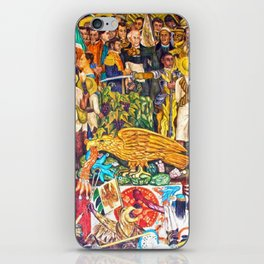 History of Mexico by Diego Rivera iPhone Skin