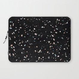 Terrazzo Memphis black galaxy Laptop Sleeve