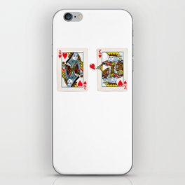 The King knows what the heart wants. iPhone Skin