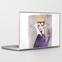 evil queen Laptop & iPad Skins featuring The Evil Queen by carotoki art and love