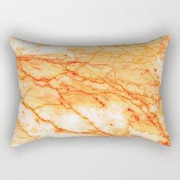Orange Marble Rectangular Pillow