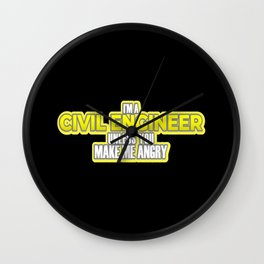 Civil Engineer Gift Construction Builder Gift Wall Clock