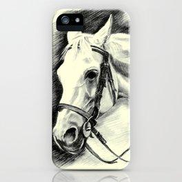 Horse-portrait iPhone Case