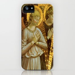 1459 Benozzo Gozoli - Angels (detail) iPhone Case