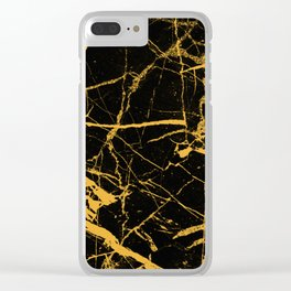 Orange Marble - Abstract, textured, marble pattern Clear iPhone Case