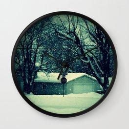 Stop snowing Wall Clock