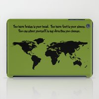 dr seuss iPad Cases featuring World Map with Dr. Seuss Quote by Dustin Hall