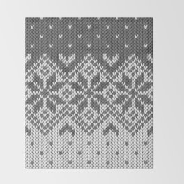 Winter knitted pattern 8 Throw Blanket