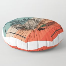 Raccoon Portrait Floor Pillow