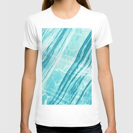 Abstract Marble - Teal Turquoise T-shirt