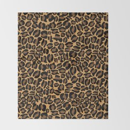 Leopard Print | Cheetah texture pattern Throw Blanket