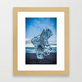 Ice Portrait in Iceland Framed Art Print