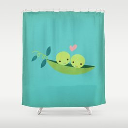 Two Peas in a Pod Shower Curtain