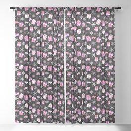 Piggy Pattern Presents Sheer Curtain