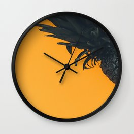 Black Pineapple Wall Clock