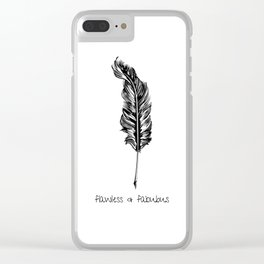 Feather and Quote no.3 Clear iPhone Case