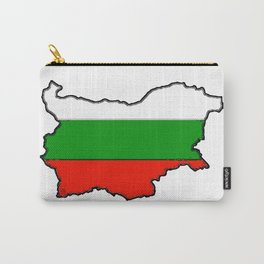Bulgaria Map with Bulgarian Flag Carry-All Pouch