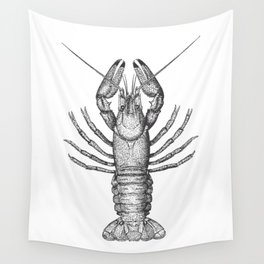 Vintage Lobster Wall Tapestry