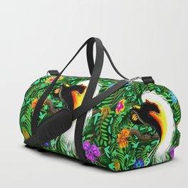Paradise Bird Fire Feathers Duffle Bag