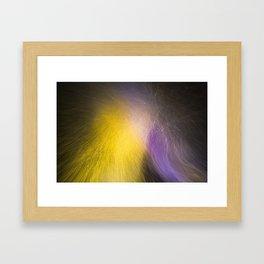 Night Blizzard in Colour Framed Art Print