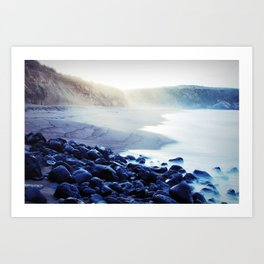 When the ocean meets the island Art Print