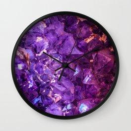 Amethyst Wall Clock