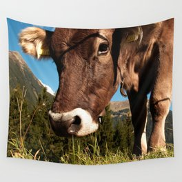 cute cow close Wall Tapestry