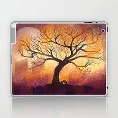 Halloween tree silhouette digital illustration Laptop & iPad Skin
