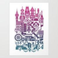 castle Art Prints featuring Castle Mama by C86 | Matt Lyon
