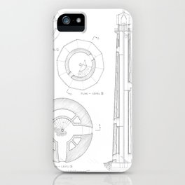 Absecon Lighthouse Blueprint iPhone Case
