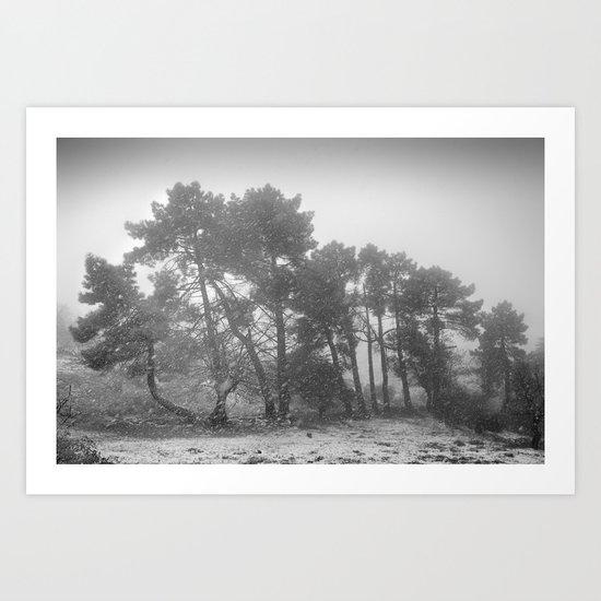 Big snowstorm Art Print