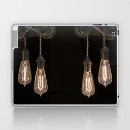 Industrial Vintage Light Bulbs Hanging from Pulleys Laptop & iPad Skin