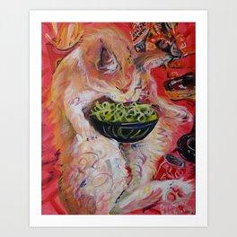 Ramen Glutton Art Print
