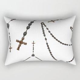 Wooden Rosary I Rectangular Pillow