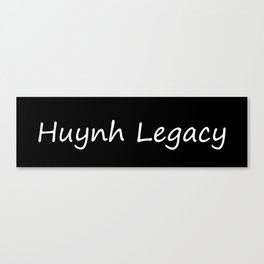 Huynh Legacy (Inverted) Canvas Print