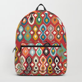 brocade flame scarlet Backpack
