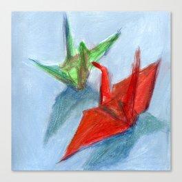 Origami Cranes Canvas Print