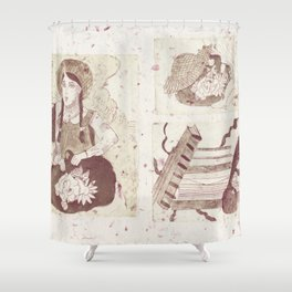 Anne Of Green Gables Brown Shower Curtain