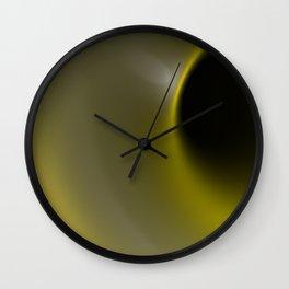 Yellow hole Wall Clock