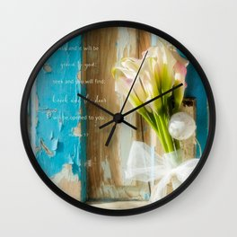 Calla Welcome* Wall Clock