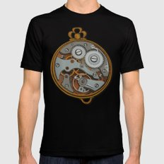 Pieces of Time Mens Fitted Tee MEDIUM Black
