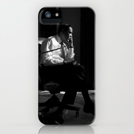 President Obama In Oval Office - 2009 iPhone Case