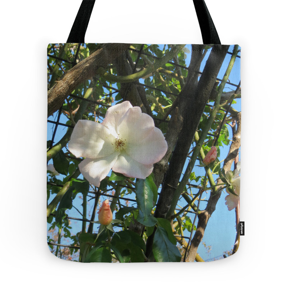 White Rose Tote Purse by samkellyart (TBG771949) photo