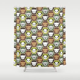 Kawaii Autumn Bears Shower Curtain