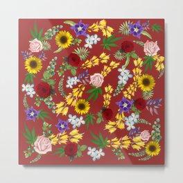 Sunflowers and Hidden Ganja Metal Print