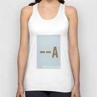 pretty little liars Tank Tops featuring Pretty Little Liars - Minimalist by Marisa Passos